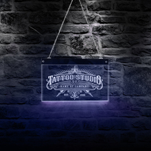 цены Tattoo Studio Custom Name LED Neon Sign Personalized Tattoo Salon Shop Name Business Wall Art Sign With Color Changing Lighting