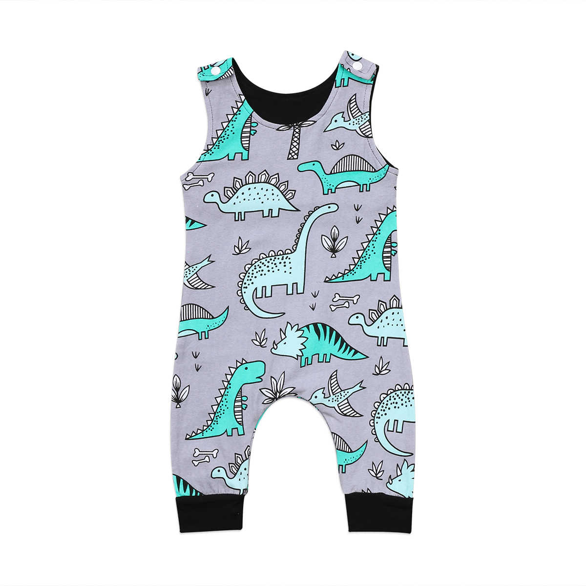 3eeefe9e17e Baby Rompers Fashion Newborn Baby Boy Romper Sleevelss Jumpsuit Clothes  Dinosaur Baby Clothes Cotton Outfits 0