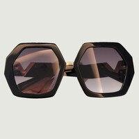 Acetate Frame Square Sunglasses For Women 2019 Luxury Brand Polygon Oversize Sun Glasses Female Retro Shades Men Ins Style