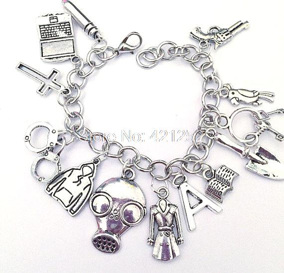6pcs Pretty Little Liars Ultimate Charm Bracelet Pretty