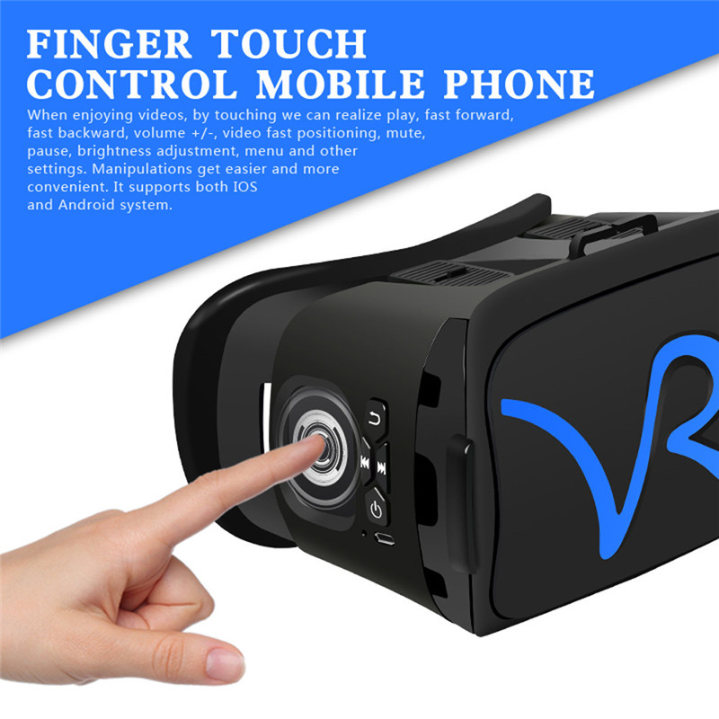 "3D VR Headset Virtual Reality Glasses VR Case All In One For 4.0""-5.8"" iPhone Samsung Moto LG Nexus HTC Wholesale 17"