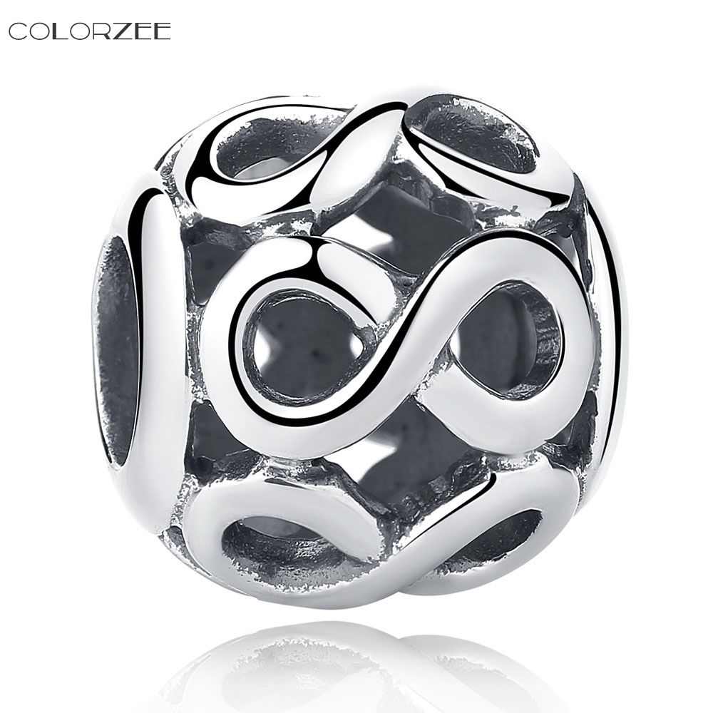 7d2e4ce9e ... ireland colorzee infinity silver charm fit pandora bracelet solid 925  sterling silver openwork round . 83f9a