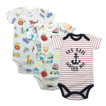 3PCS/LOT Baby Boys Girls Summer Clothes 2019 New Fashion 100% Cotton Bodysuit Short Sleeve Newborn