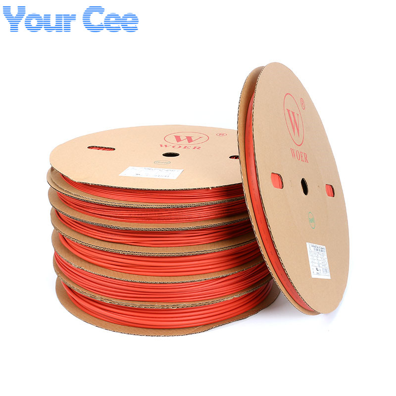 A Roll 200m 2:1 Heatshrink Tubing Heat Shrink Tube Sleeving Hot Heat Cable Protection Red UL SGS 2mm 3mm 4mm