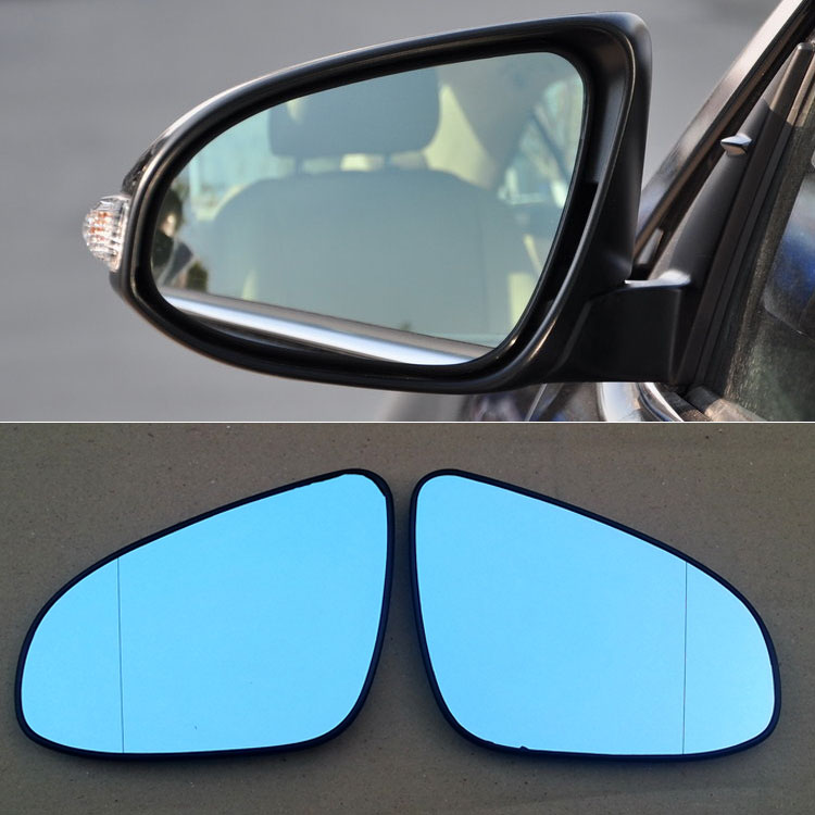Ipoboo 2pcs New Power Heated w/Turn Signal Side View Mirror Blue Glasses For Toyota Camry 7th