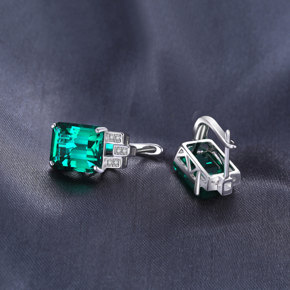 SmyckenPalace Luxury 7.6ct Nano Russian Simulated Emerald 925 - Fina smycken - Foto 4
