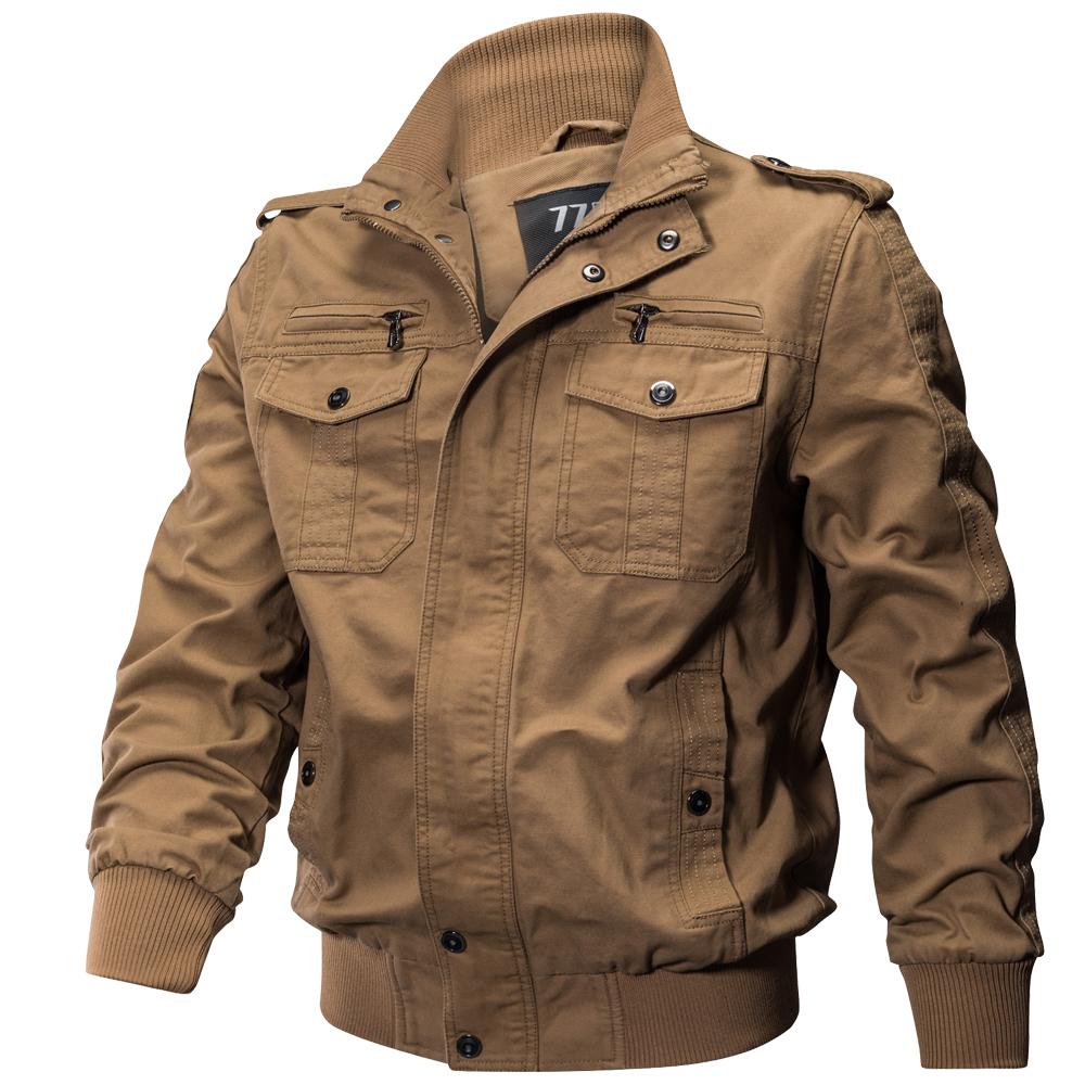 Plus Size Military Jacket Men Spring Autumn Cotton Pilot Jacket Coat Army Men's Bomber Jackets Cargo Flight Jacket Male 6XL()