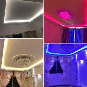 Image 5 - Super Heldere SMD2835 Dimbare 220V Led Strip Licht 1M 25M Keuken Outdoor Tuin Backlight Lamp Tape lint Guirlande Met Eu Plug