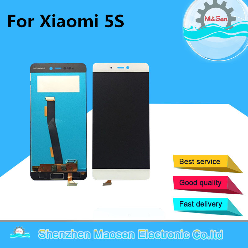 M&Sen For Xiaomi 5s Mi5s M5s LCD screen display + Touch panel digitizer white/black  free shipping