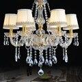 Роскошная золотая хрустальная люстра для дома  освещение для спальни  кухни  люстра  6 рычагов  люстры для столовой