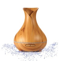 400ML Ultrasonic Air Humidifie Aromatherapy Essential Oil Aroma Diffuser Ultrasonic Cool Mist Humidifier With LED Light