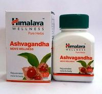 Ashwagandha Tablet | Himalayan Pure Herb 100% Vegetarian 60*2 Improves Emotions Reduces Anxiety