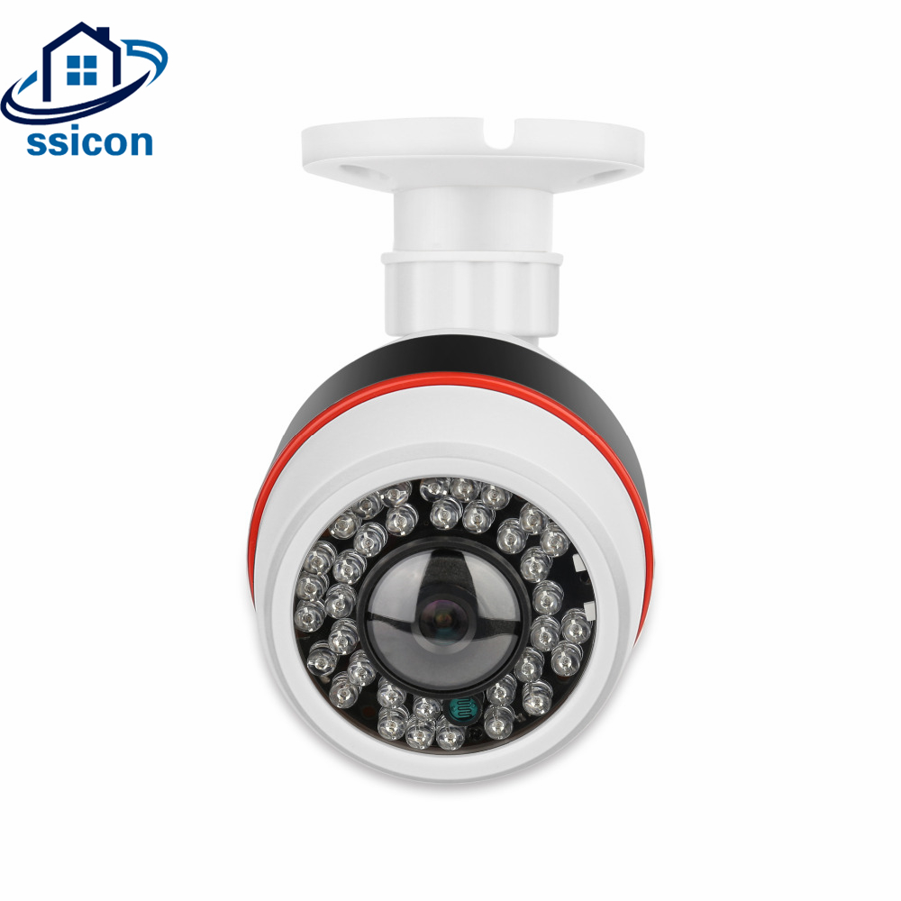 цена на SSICON 2MP 180 Degree 360 Degree Lens CMOS Sensor 48V Security POE Camera Wide Angle View Panoramic Bullet Fisheye IP Camera