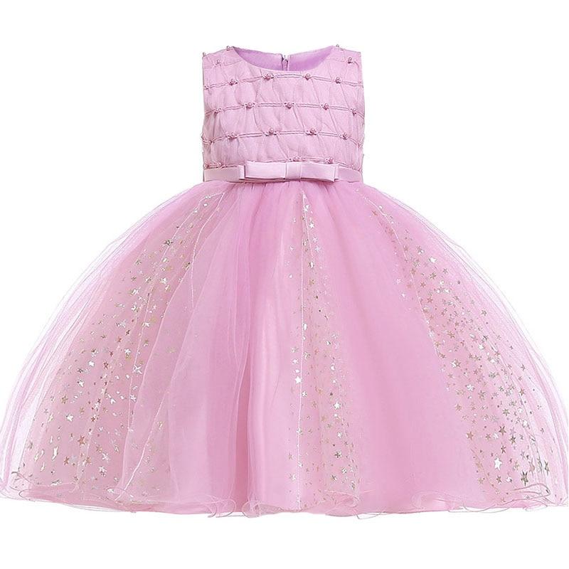 2019 Retail Flower Girl Dresses For Children Kids Girl Ball Gown First Communion Girls Pageant Dress Elegant Evening Dress L1851