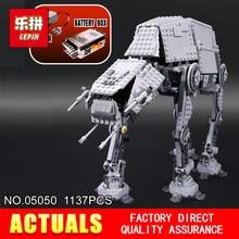 NOWY LEPIN 05050 Gwiazda Klasyczne zabawki Wars 1137 sztuk robota Model klocki klocki Klasyczne Kompatybilny 10178 do Chłopców Prezent model