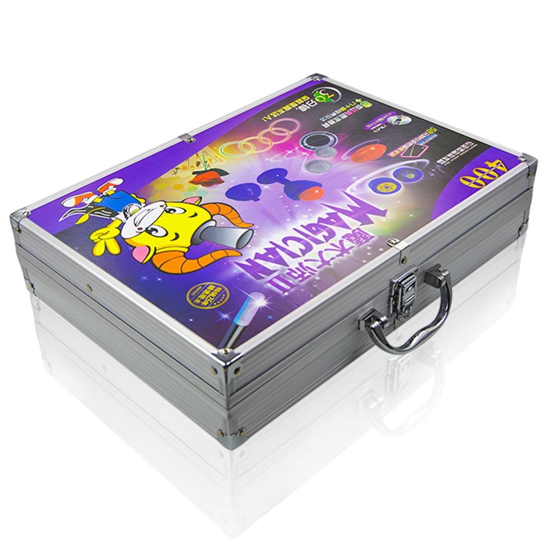 Jouet éducatif chaud de boîte-cadeau magique d'alliage d'aluminium réglé avec divers accessoires boîte-cadeau de jouet magique de gros plan des enfants pour des enfants - 2