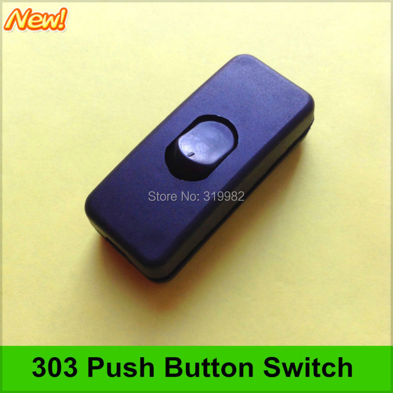 303 Push Button Switch Power Supply Cable Circuit Midway Black Switch LED  Lamp Switch Universal DIY Switch In Switches From Lights U0026 Lighting On ...