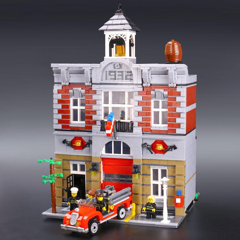 Dhl city street 15004 fire brigade 모델 빌딩 키트 블록 벽돌 10197 완구와 호환 어린이 선물-에서블록부터 완구 & 취미 의  그룹 3