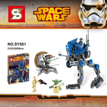 SY501 Star Wars Scenes Walking Machine Building Block Minifigures Compatible with Legoe Brick Toy Christmas Gift