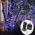Solar string light Lights  Garden Christmas Lights Holiday Outdoor Fairy Lights Waterproof rgb whtie blue  Wedding holiday