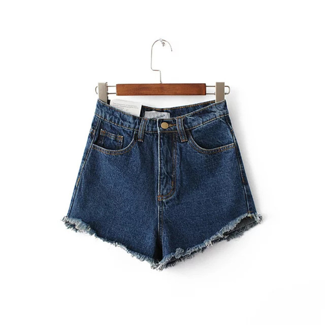 Summer irregular Short Jeans 2017 fashion tassel high waist Denim Shorts Women 2017 Sexy black white shorts Plus Size