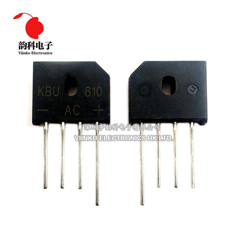 10PCS KBU810 KBU-810 8A 1000V Diode Bridge Rectifier ZIP