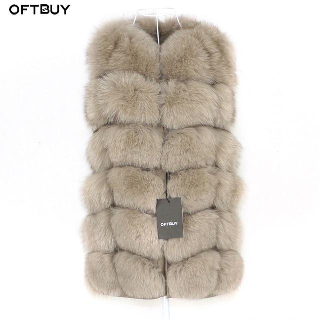 OFTBUY Spring Real Fox Fur Vest Women Sleeveless Winter Jacket Gilet Natural Fur Coat Bodywarmer Waistcoat Thick Warm Streetwear 1