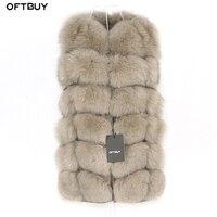 OFTBUY Spring Real Fox Fur Vest Women Sleeveless Winter Jacket Gilet Natural Fur Coat Bodywarmer Waistcoat Thick Warm Streetwear