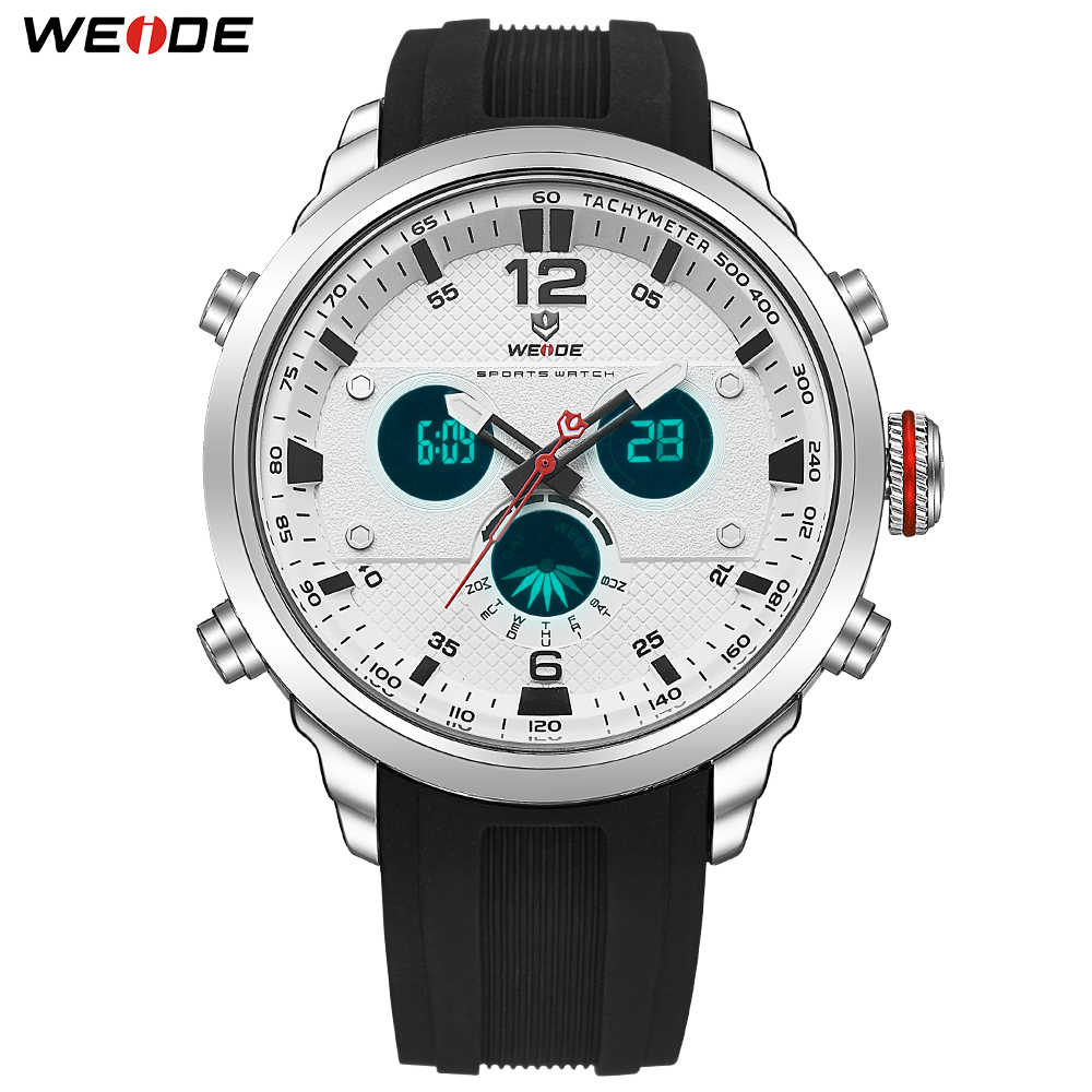 WEIDE Men's Sport Luxury Quartz Movement Water Resistant Fashion Casual Military Wristwatches Clock Hours Relogio Masculino