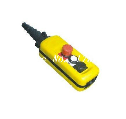 1 Speed Control Hoist Crane 2 Pushbuttons Pendant Control Station With Emergency Stop 2 speed control hoist crane 6 pushbuttons pendant control station with emergency stop