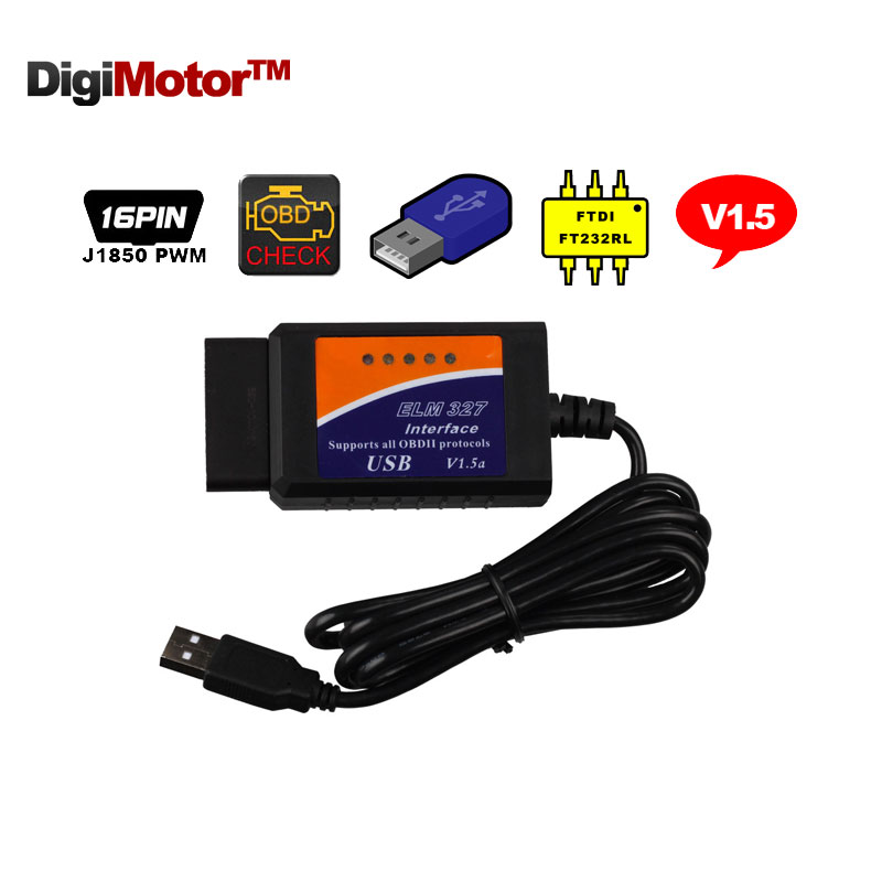 Prix pour ELM327 OBD2 Voiture de diagnostic-outil OBD 2 ELM 327 EOBD outil De Diagnostic CAN BUS Scanner pour le diagnostic Automobile Scanner outil