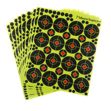 "160pcs Shooting Targets 2"" Reactive Splatter Glow Florescent Paper Target for Hunting Archery Arrow Training Shoot Accessories(China)"