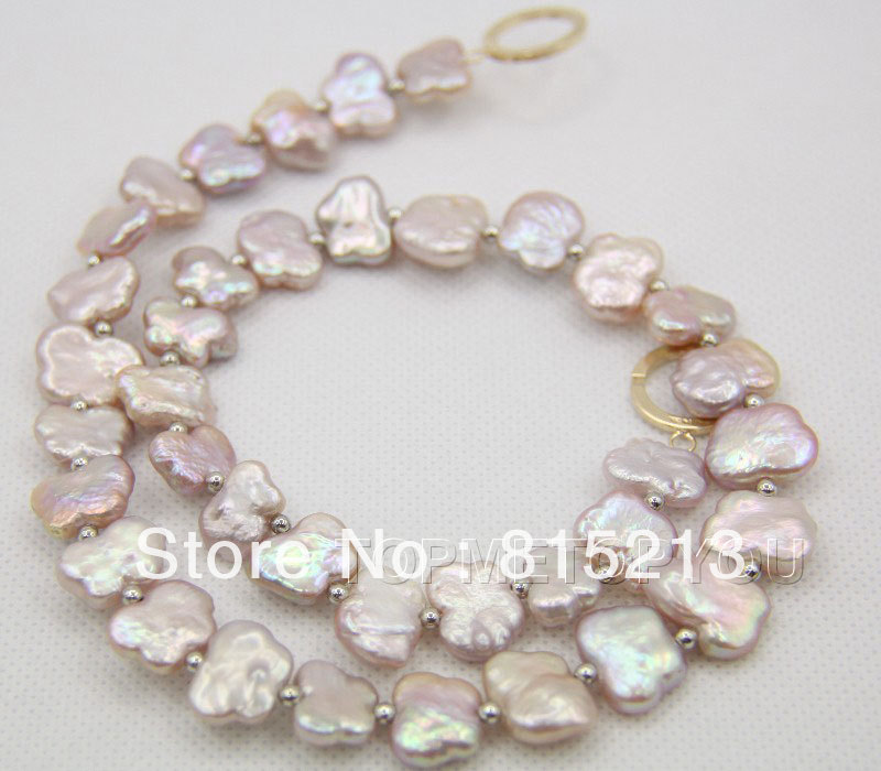 ddh00140 Charming natural baroque lavender purple pearls necklace цена