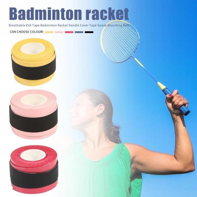 Badminton Racket Tape Anti-skid Hand Glue Sweat Absorbing Belt Tennis Overgrip Grip Padel Keel Hand Sticky Thicken Sweat Belt 2