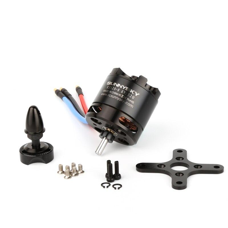 الأصلي SUNNYSKY X3520 520KV 720KV 880KV عالية فعالية فرش السيارات ل FPV Quadcopter الطائرات بدون طيار-في قطع غيار وملحقات من الألعاب والهوايات على  مجموعة 1