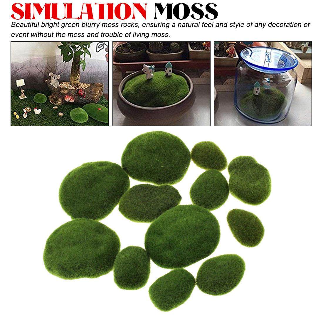 1pcs Simulation Moss Irregular Green Stones Grass Aquarium Garden Plant DIY Micro Landscape Decorations