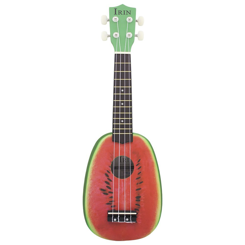 HLBY 21 Ukelele 4 Strings Colorful Lovely Watermelon / Kiwi Basswood Stringed Musical Instrument Christmas Gift Present