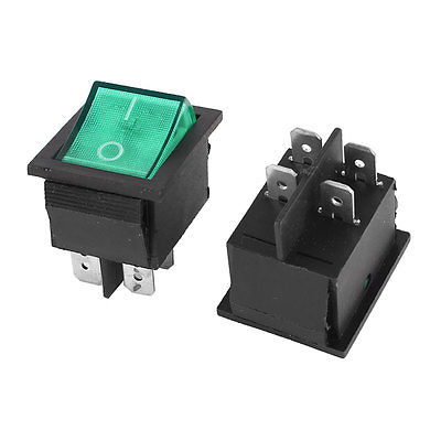 2Pcs KCD2-201N Contact DPST On/Off Boat Rocker Switch AC 15A/250V 20A/125V ernest
