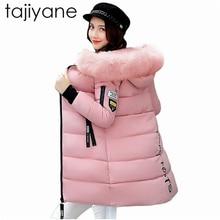 TAJIYANE Women Coats Fashion Warm Winter Jackets Women Fur Collar Long Parka Plus Size Hoodies Casual Down Cotton Outwear HotNZ7