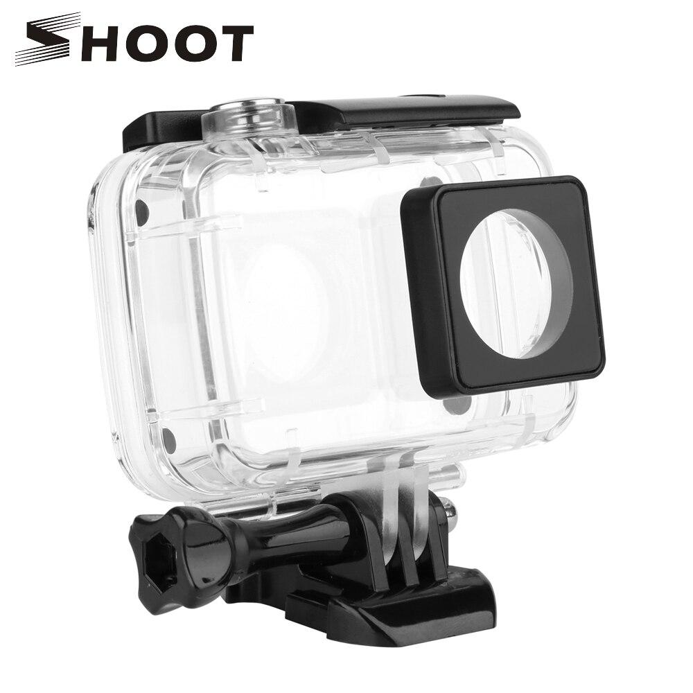 SHOOT 40M Diving Camera Waterproof Case for Xiaomi YI 4K 4K+ Xiaoyi 2 Cam Protective Housing Case For Yi 4K Camera Accessories
