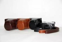 PU Leather Camera Bag Case cover For Panasonic GX7 shoulder bag