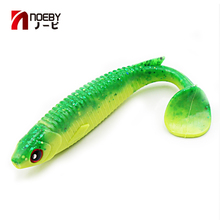 Noeby Pesca Tiddler Soft Baits 10cm 4 pcs/bag Lures for Fishing Simulation Soft Fish Fishing Lure Leurre Dur Peche