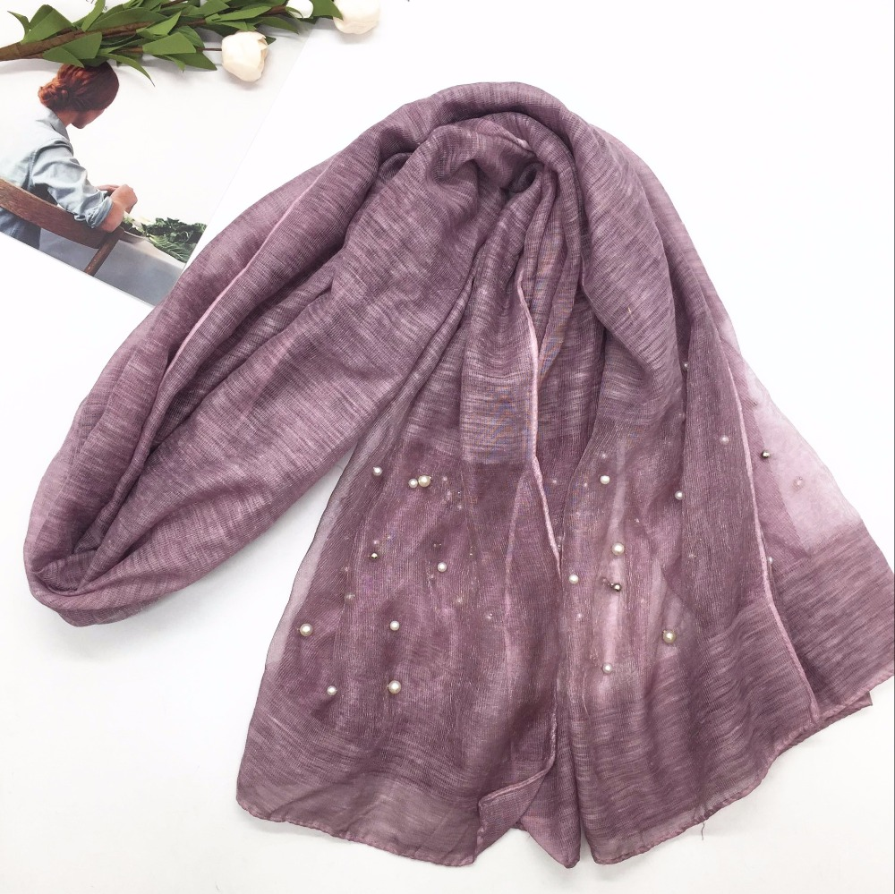 NEW organza pearl hijab Women plain scarf/scarves fashion hijabs soft echarpe wraps muffler hot sale scarves 13 colors