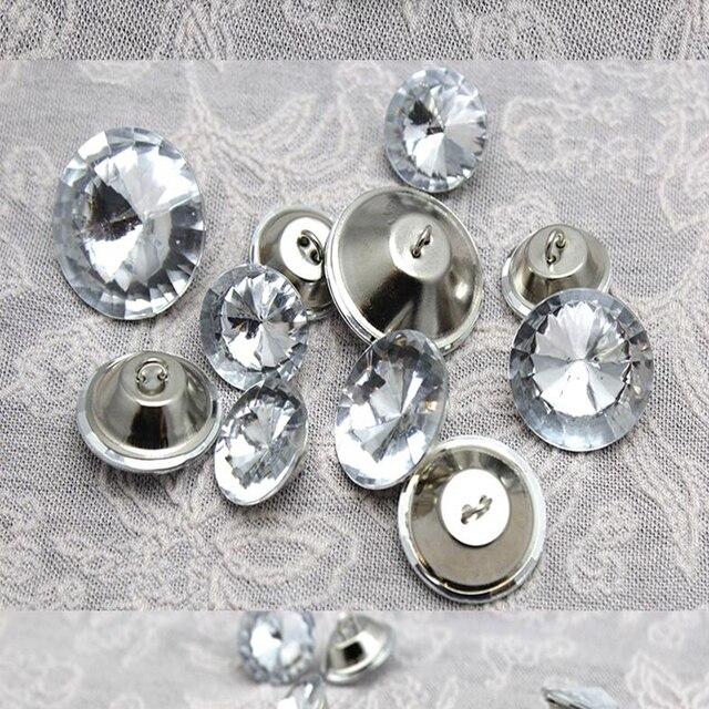 100 unids Brillante Diamante de Cristal Sofá Tornillo Clavo Del ...