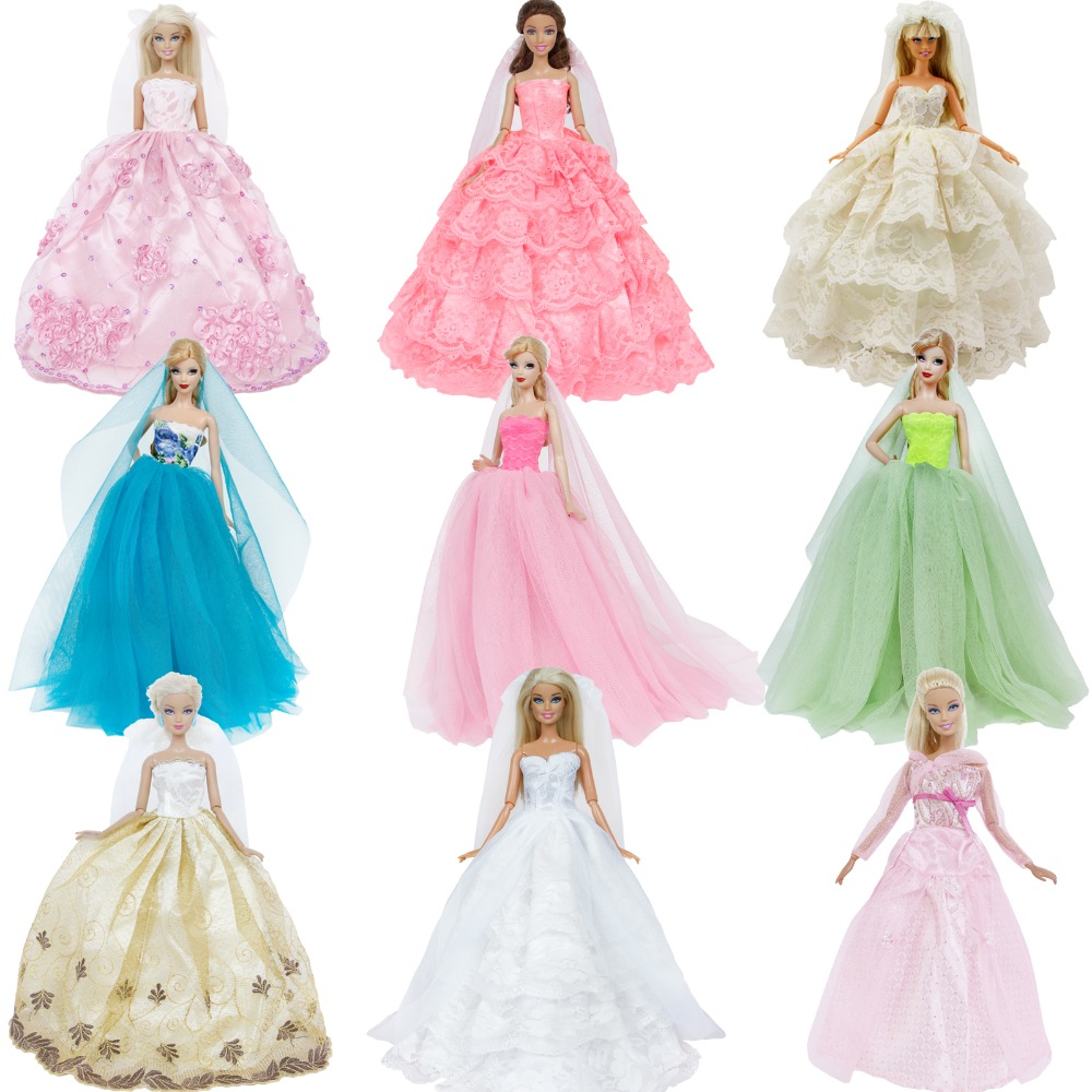 Fashion Party Dress//Wedding Clothes//Gown For 11 in Doll d32