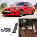 Brand New 3pcs Aluminium Non Slip Foot Rest Fuel Gas Brake Pedal Cover For Lexus IS AT 2013-2016