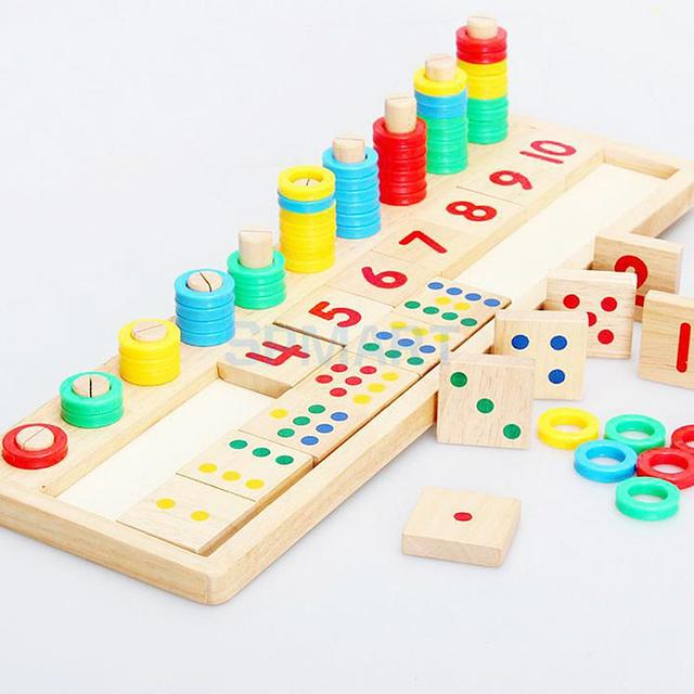 Wooden Counting Match And Number Game Mathematics Early Learning ...