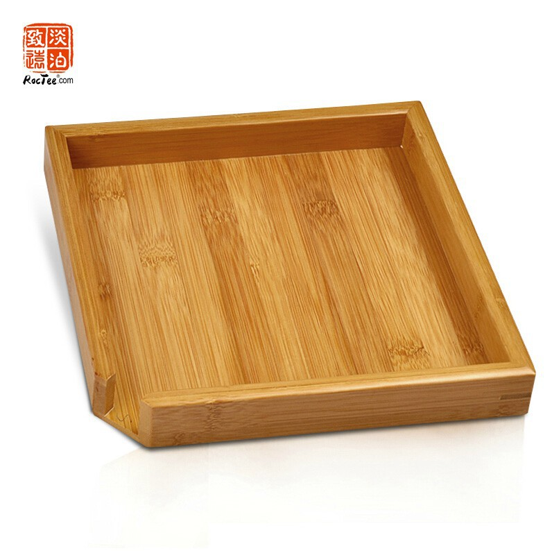 23 x 23 cm Big Natural Bamboo Tea Tray Bamboo Puer Tea Board For Showing Tea