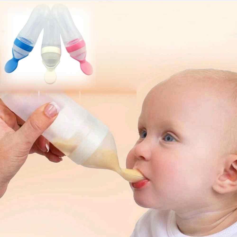 ทารกความปลอดภัยซิลิกาเจลขวดนมช้อนอาหารอาหารเสริมธัญพืชขวดบีบช้อนนมขวดนมถ้วย