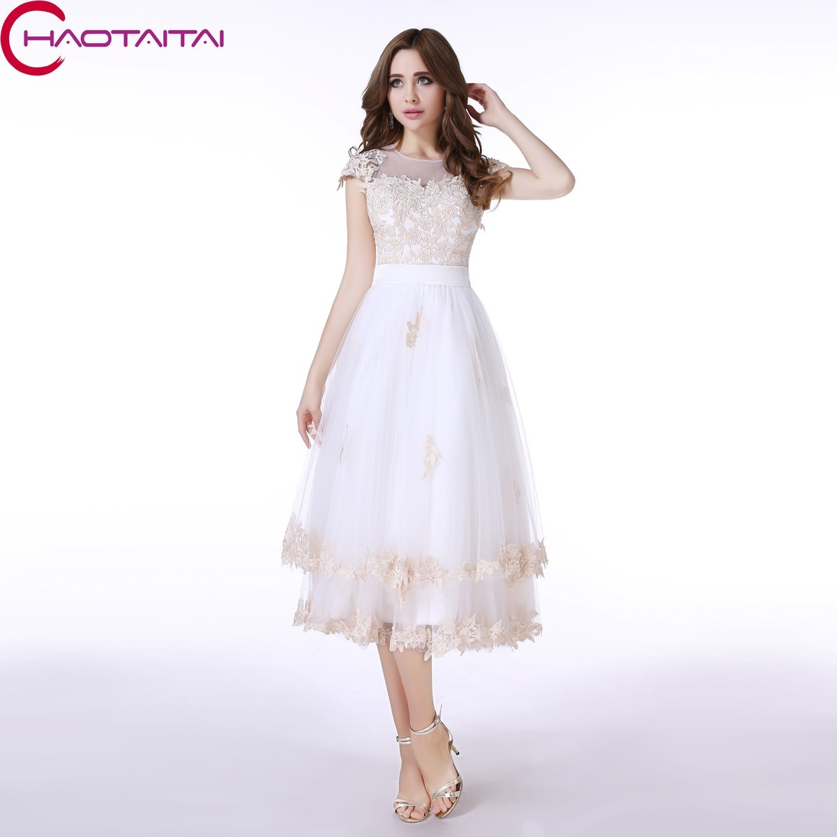 Popular Short White Evening Dress-Buy Cheap Short White Evening ...